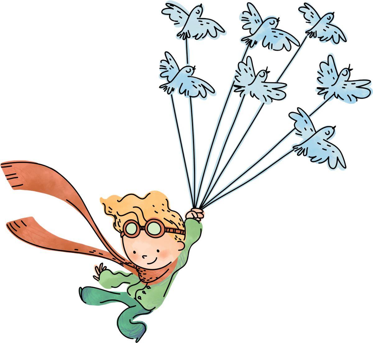 spesso Adesivi Murali: Il piccolo principe vola | LeoStickers UD41